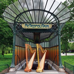 Camac Art Nouveau Harps at the Paris Metro